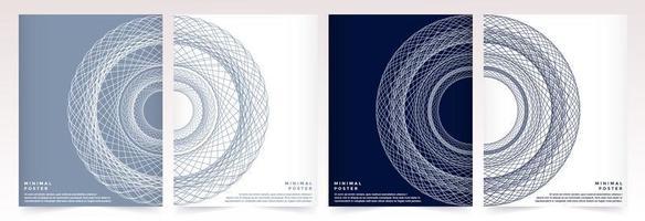 resumos coloridos minimalistas incluem desenhos de padrões geométricos. vetor