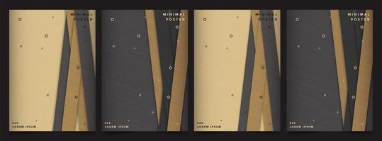 designs de capa premium com cubos geométricos vetor