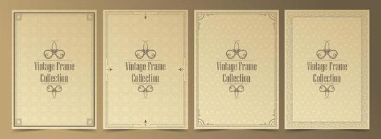 coleção de molduras ornamentais vintage vetor