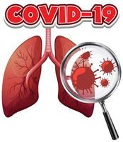 células de coronavírus nos pulmões humanos vetor