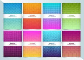 grande coleção de capas mínimas coloridas abstratas vetor