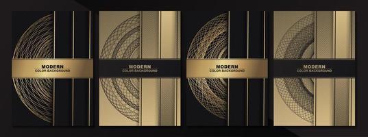 modelos antigos de cartão de ouro vetor