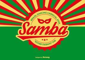 Ilustração vetorial samba vetor