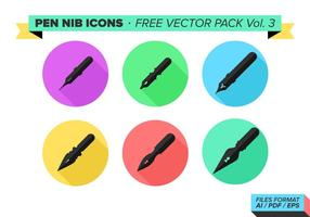 Ícones Pen Nib Free Vector Pack Vol. 3
