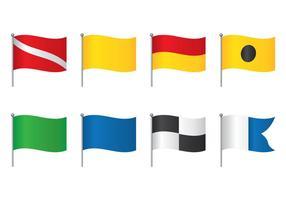 Conjunto de bandeira de mergulho vetor