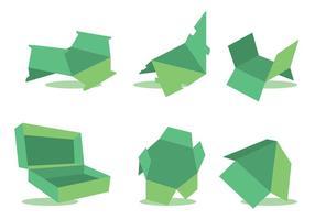 Morrer cortar o conjunto de vetores verde