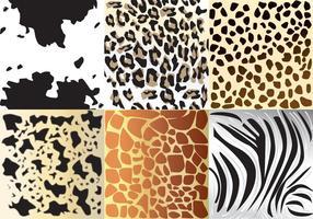 Texturas animais vetor