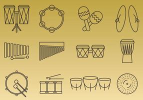Instrumentos de percussão vetor