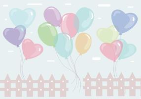 Balões vetor colorido