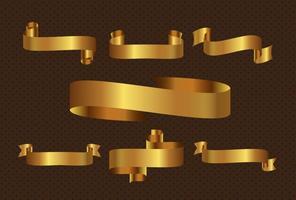 Vetor de fita dourada grátis