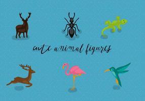 Ilustração vetorial dos animais livres vetor