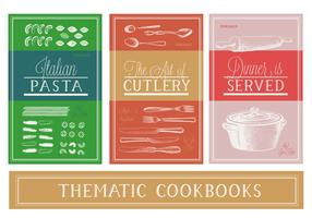Vetor Vário Thematic Cookbooks Vector Background