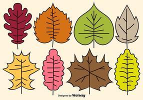 Folhas de vetores de desenhos animados