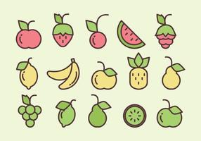 Frutas vetoriais vetor