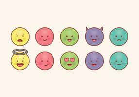 Emoticons vetoriais vetor