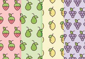 Padrões de frutas vetoriais