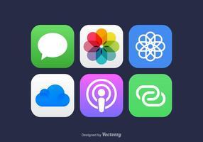 Ícones de aplicativos para celular de vetores gratuitos