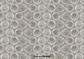 Textura realista do envoltório da bolha vetor