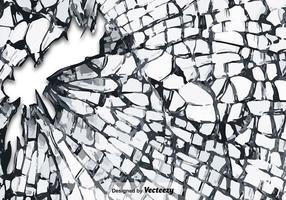 Textura de vidro quebrada vetor