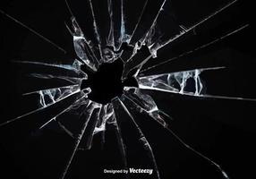 Efeito de vidro quebrada