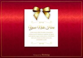 Cartão grátis de luxo do vetor
