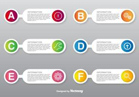 Opções de opções de vetores configuradas com ícones de estilo de linha