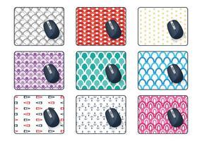 Vetor de padrão de mouse pad