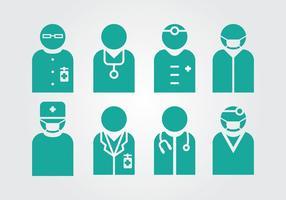 Médico e enfermeira vetores