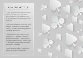 Fundo de elementos de cartões de jogo de vetores grátis