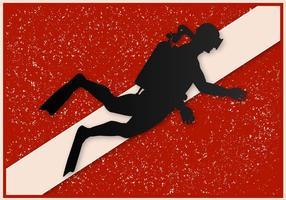 Bandeira livre de mergulho do vetor grunge