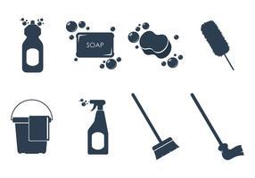 Ferramentas de limpeza vetores de ícones