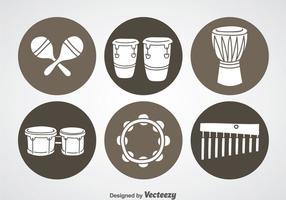 Ícones do instrumento de percussão vetor