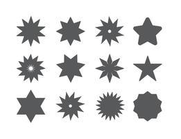 Conjunto de formas de estrela de vetores