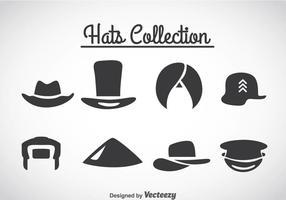 Vector de ícones de coleção de chapéus