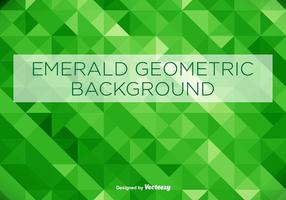 Fundo geométrico verde esmeralda vetor