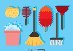 Ícones de limpeza doméstica vetor