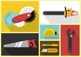 Conjunto de ícones vetoriais de ferramentas de trabalho vetor