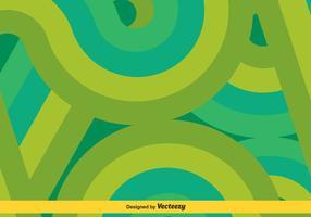 Verde / turquesa Swishes Vector Background