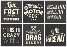 Coleção de tipografia Race Vintage vetor