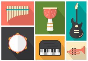 Instrumentos musicais para pop, jazz e rock vetor
