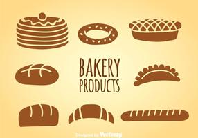 Conjuntos de vetores de produtos de padaria