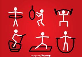 Vector Stickman de exercícios