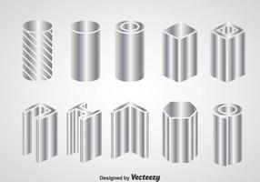 Ícones de construção de feixe de aço vetor