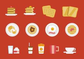 Conjunto de vetores de pequeno-almoço grátis