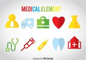 Ícones coloridos médicos vetor