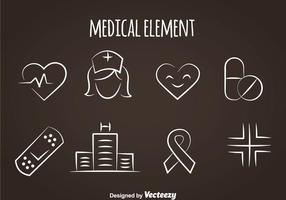 Ícones da linha médica vetor