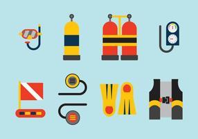 Elementos de mergulho de vetores gratuitos