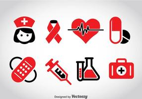 Vector de ícones médicos