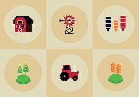 Vetores gratuitos de elementos da fazenda