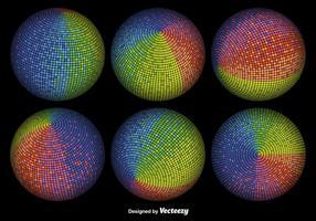 Esferas coloridas 3D do vetor